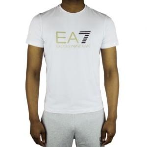 Ea7 Big Logo T-Shirt in White