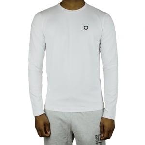 Ea7 Crest Logo T-Shirt in White