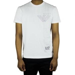 Ea7 Eagle Line T-Shirt in White