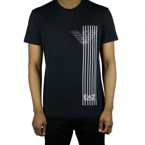 Ea7 Eagle Line T-Shirt in Black