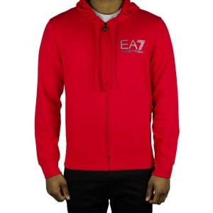 Ea7 Lined Sweatshirt in Red