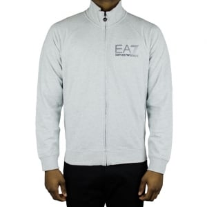 Ea7 Lined Zip Sweatshirt in Grey