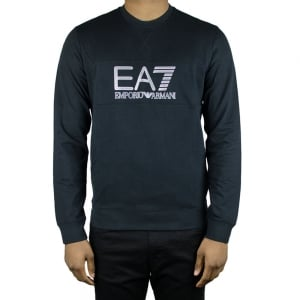 Ea7 Big Logo Sweatshirt in Black