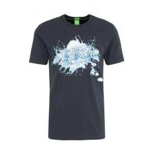 Boss Green Tee 8 T-Shirt in Navy