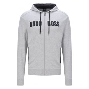 Boss Black Jacket Hooded Loungewear in Grey