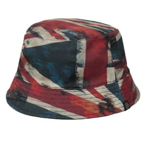 Pretty Green Bucket Hat in Red
