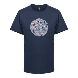 Pretty Green Camley Paisley T-Shirt in Navy
