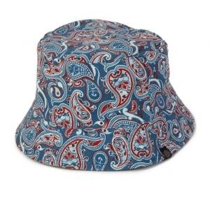 Pretty Green Camley Bucket Hat in Blue