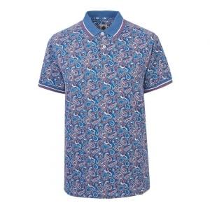 Pretty Green Camley Polo Shirt in Blue