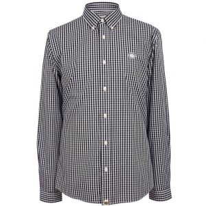 Pretty Green Ebsworth Long Sleeved Shirt in Black