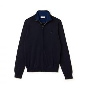 Lacoste Zip Knitwear in Navy
