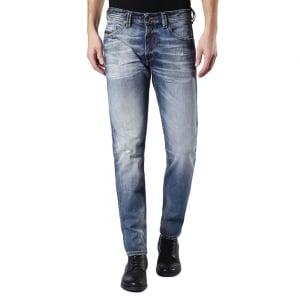 "Diesel Thommer 30"" Short Leg Jeans in Mid Wash"
