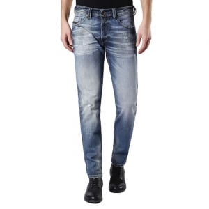 "Diesel Thommer 32"" Regular Leg Jeans in Mid Wash"