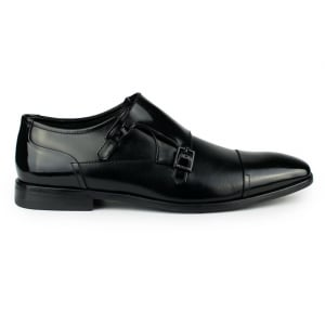 Hugo Square Monk Shoe in Black