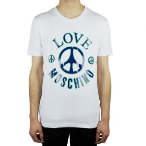 Moschino Big Peace T-Shirt in White