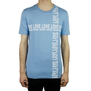 Love Moschino Love Tee T-Shirt in Sky Blue