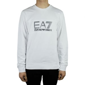 Ea7 Big Logo Sweatshirt in White