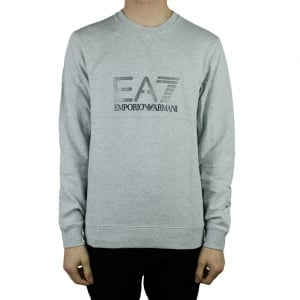 Ea7 Big Logo Sweatshirt in Grey