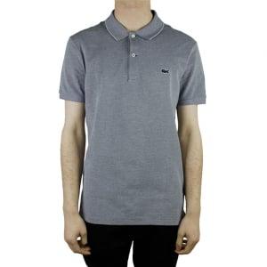 Lacoste Pattern Logo Polo Shirt in Grey