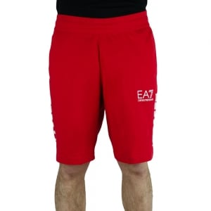 Ea7 Bermuda 7 Lines Shorts in Red