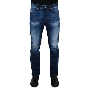 "Diesel Buster 2 30"" Short Leg Jeans in Mid Wash"