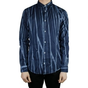 Armani Jeans Palm Tree Shirt in Navy