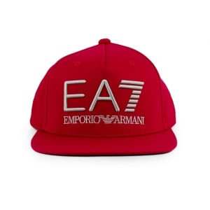 Ea7 Big Logo Hat in Red