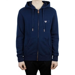 True Religion Metal Logo Hoodie in Navy