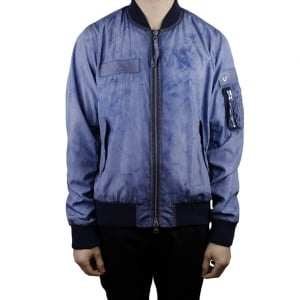 True Religion Windbreaker Jacket in Dark Blue