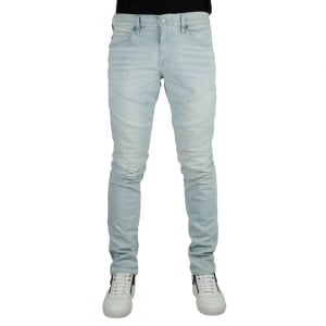True Religion Rocco Moto Jeans in Light Wash