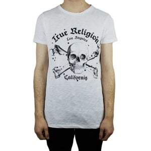 True Religion Skull T-Shirt in White