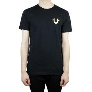 True Religion Gold Buddha T-Shirt in Black