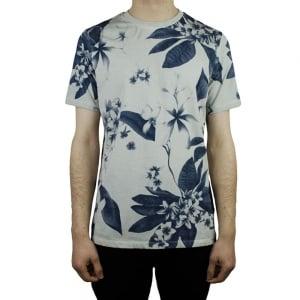 Hamaki-Ho Flower T-Shirt in Dark Grey