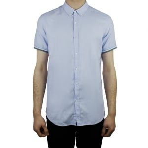 Hamaki-Ho Tipped Sleeve Shirt in Sky Blue