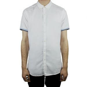 Hamaki-Ho Tipped Sleeve Shirt in White