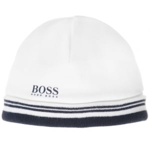 Boss Kids Newborn Hat in White