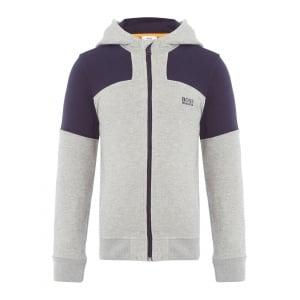 Boss Kids Boss Hooded Sweatshirt in Grey