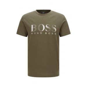 Boss Black Loungewear T-Shirt in Dark Green