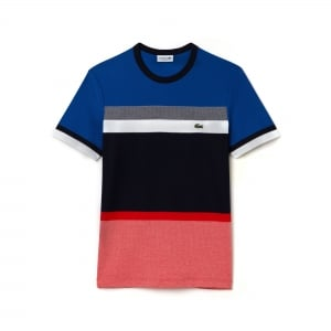 Lacoste Multi Panel T-Shirt in Navy