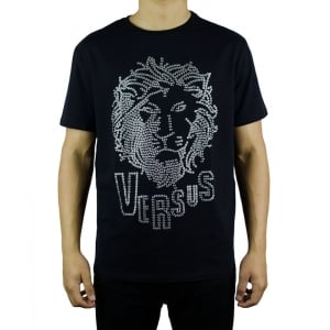 Versus Versace Dotted Lion T-Shirt in Black