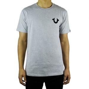 True Religion Puff Tee T-Shirt in Grey