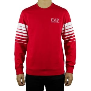 Ea7 Core Sweatshirt in Red