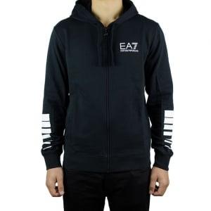 Ea7 Core Hood Sweatshirt in Black