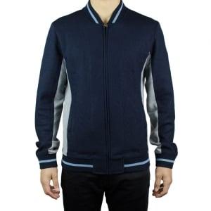 Ea7 Zip Up Sweatshirt in Navy