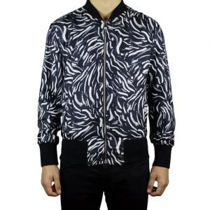 Versus Versace Zebra Coat in Black