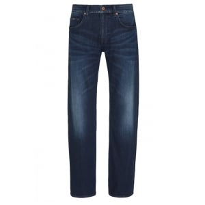 "Boss Green C-Maine1-200 30"" Short Leg Jeans in Mid Wash"