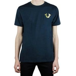True Religion Gold Buddha T-Shirt in Navy