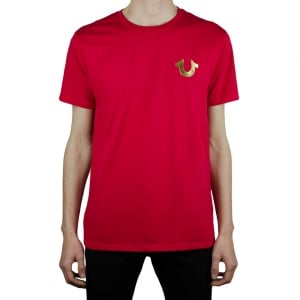 True Religion Gold Buddha T-Shirt in Red