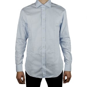 Collezioni Stripe Formal Shirt in Baby Blue