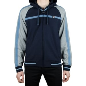 Ea7 Track Zip Sweatshirt in Navy